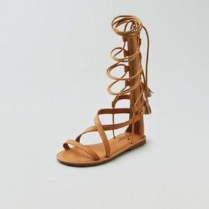 [American Eagle Outfitters] lace up sandals.